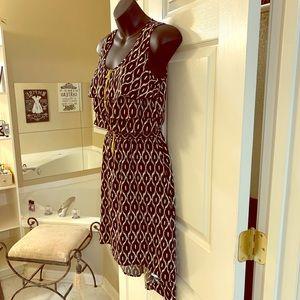 Xhilaration Black & Cream Geometrical Dress Small